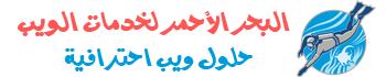 شركة البحر الأحمر لخدمات الويب - خدمات استضافة وتصميم مواقع